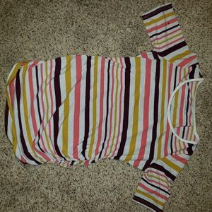 Motherhood Maternity striped shirt